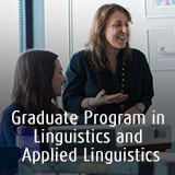 Graduate Program in Linguistics and Applied Linguistics